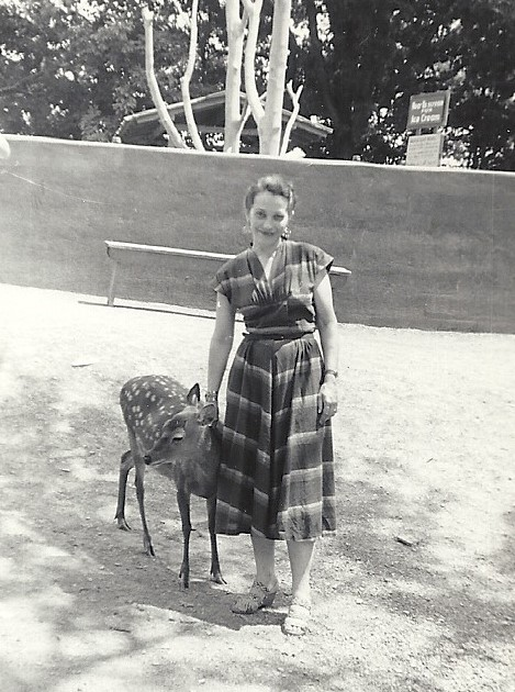 Inez Clute in the1950's at the Catskill Game Farm